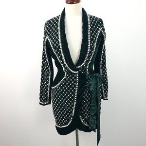 NWT ASOS Green Sequin Pearl Embellished Wrap Dress